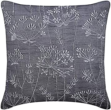Amazon.com: Hecho a mano color gris carbón almohadas Cover ...