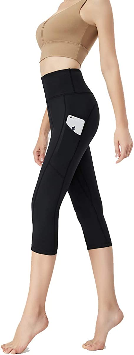 SS COLOR FISH Yoga Pants with Pockets – High Waist Tummy Control Workout Leggings Running Tights Cropped for Women
