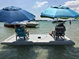 Inflatable Commercial Grade PVC Floating Fishing Platform Dock Pier W/Pump New
