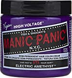 Manic Panic Electric Amethyst Hair Color Cream – Classic High Voltage - Semi-Permanent Hair Dye - Vivid, Purple Shade - For Dark, Light Hair – Vegan, PPD & Ammonia-Free - Ready-to-Use, No-Mix Coloring