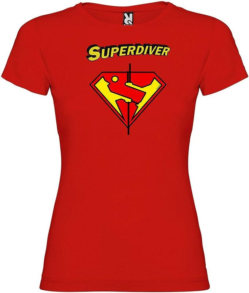 Camiseta Buceo Super Diver Manga Corta Mujer