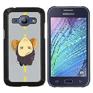 LECELL--Funda protectora / Cubierta / Piel For Samsung Galaxy J1 J100 -- Cara En El Camino --