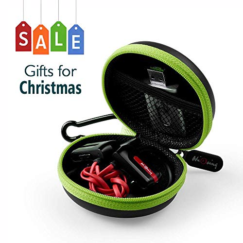 HiGoingl Carrying Cases Sweatproof Travel Carrying Cases Portable Protection EVA Hard Earpieces with Carabiner