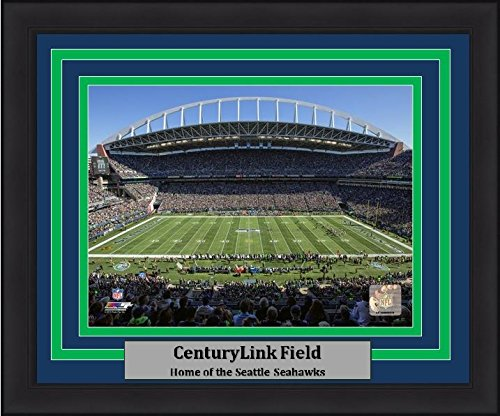 Seattle Centurylink Field 8  X 10  Football Framed And Matted Photo