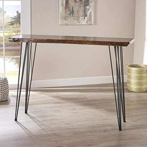 Aneissa Industrial Faux Live Edge Rectangular Bar Table, Natural by Christopher Knight Home (Image #2)