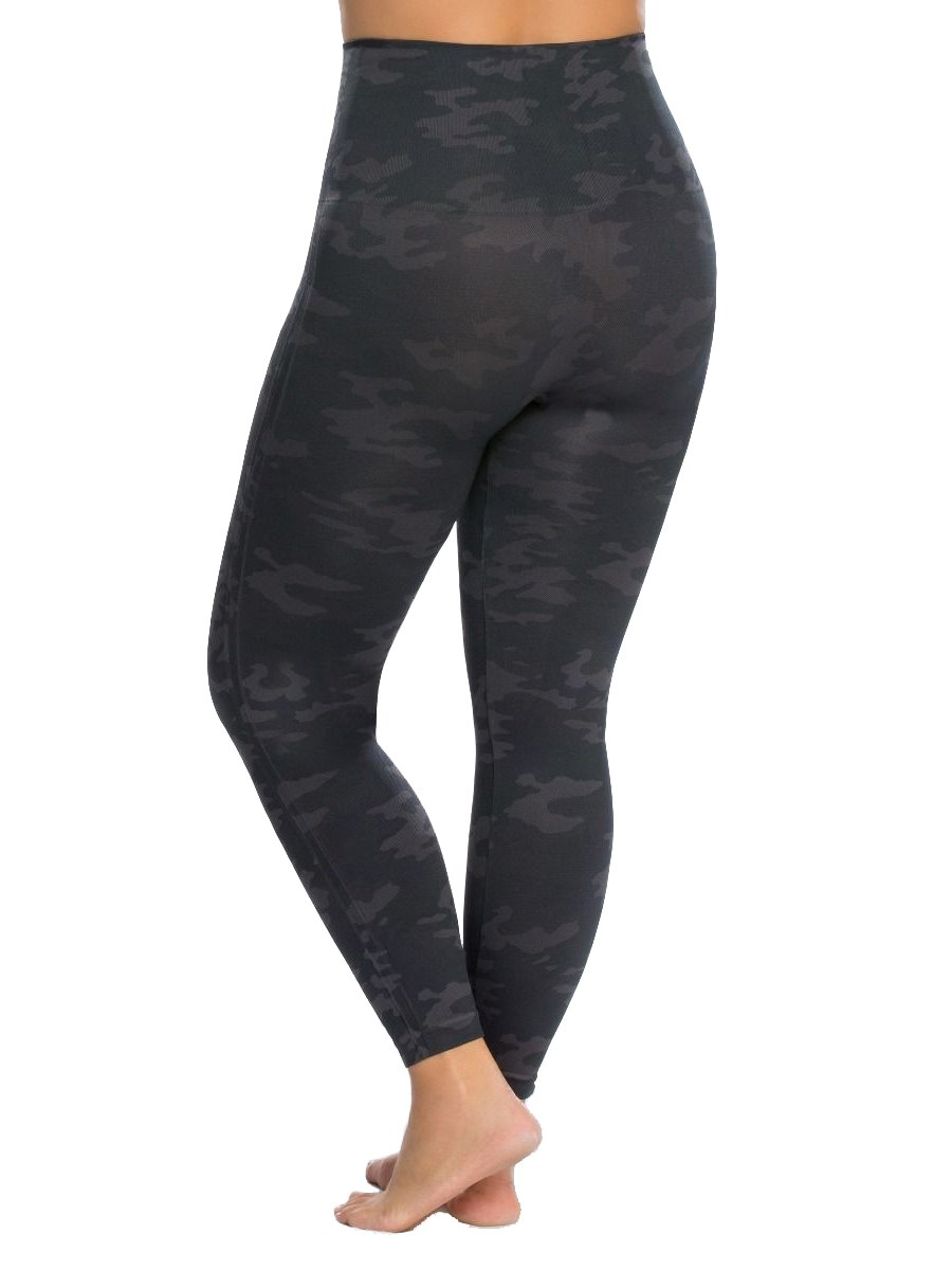 SPANX Plus Size Look at Me Seamless Leggings, 1X, Black Camo by SPANX (Image #3)