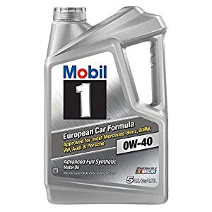 Mobil 1 (120760) 0W-40 Motor Oil, 5 Quart, Pack of 2
