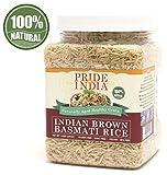 Pride Of India - Extra Long Brown Basmati Rice - Naturally Aged...