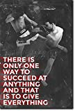 Muay Thai Motivational Poster 10 ''There is only one way to succeed'' Photo Print Art Motivation Quote Gift Thai Thailand - Size: 36 x 24 Inches (HUGE) - 91 x 60 cm