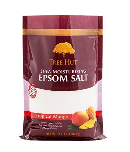 Tree Hut Shea Moisturizing Epsom Salt, Tropical Mango, 3 lb Bag (Salt Butter Shea)