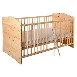 Kuba - Cuna transformable en cama infantil (140 x 70 cm), color marrón