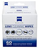 Zeiss Pre-Moistened Lens Cleaning Wipes, 6 x 5-Inches, 60 count