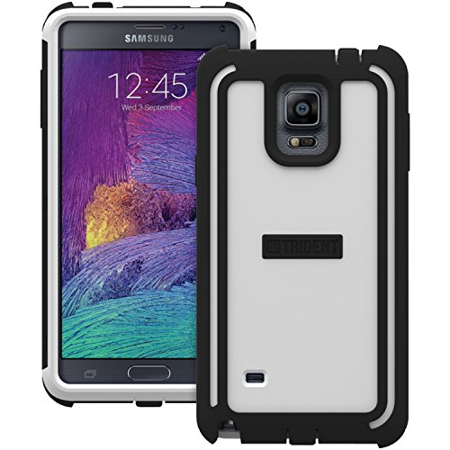 TRIDENT Samsung Galaxy Note 4 Cyclops Series Case - Retail Packaging - White