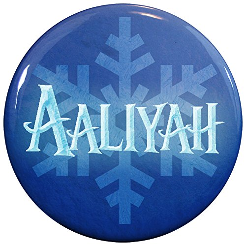 Buttonsmith® Aaliyah Winter Ice Name Tag (Aaliyah Halloween)