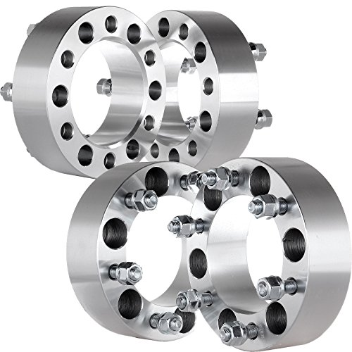 SCITOO 6x5.5 to 6x5.5 Wheel Spacers 2 INCH 12x1.5 Studs 6Lug Billet 2