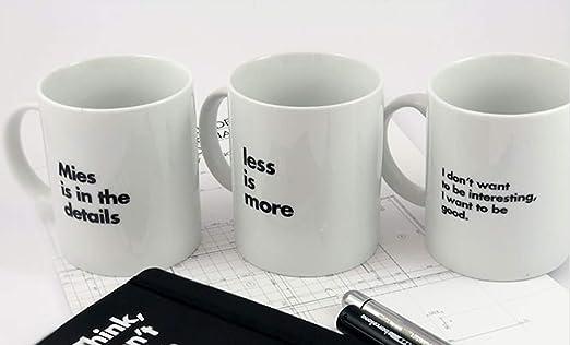 Mies Pack de 3 Tazas Van Der Rohe - Producto Oficial de la ...