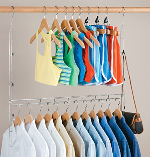 Organize It All Durable Chrome Closet Doubler (1346W) ()