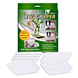 installing carpet on stairs K'LIAH Rug Grippers For Hardwood Floors - Anti Curling Rug Gripper, Non Slip Rug Pad - Non Skid Rug Pads Tape - Keep Your Rugs In Place & Make Corners Flat - Carpet Tape For Area Rugs, Set Of 16 Pcs