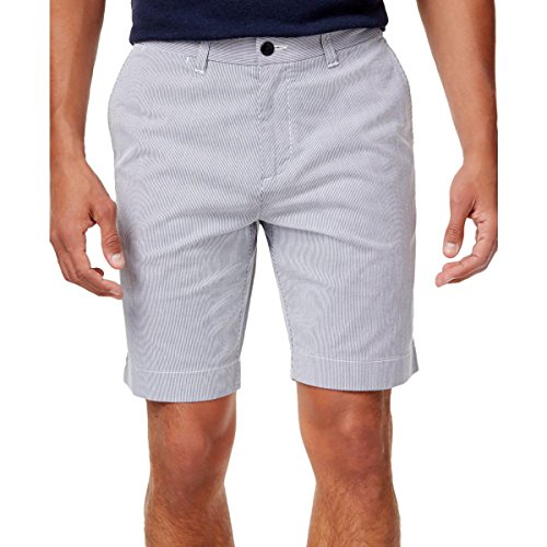 Tommy Hilfiger Mens Striped Flat Front Casual Shorts Blue 42 by Tommy Hilfiger