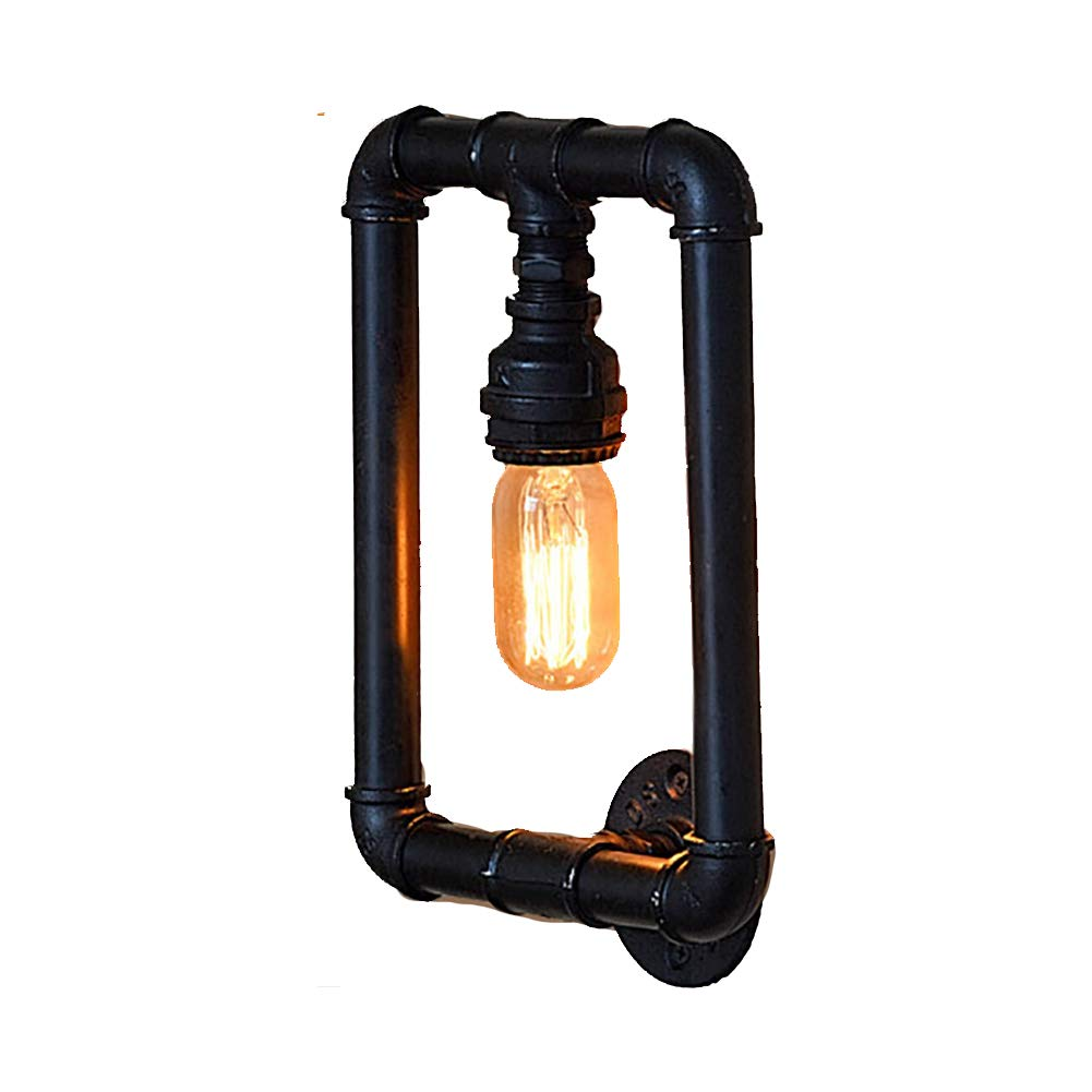 CSDM.AI Vintage Wandleuchte, Retro Industrial Water Pipe Wall Light Rustic Metal Steampunk for Bar Restaurant Coffee Shop and Home Use, E27 Socket