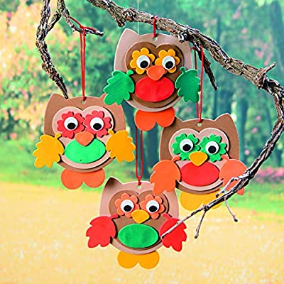 Foam Owl Ornaments - Crafts for Kids and Fun Home Activities: Toys & Games