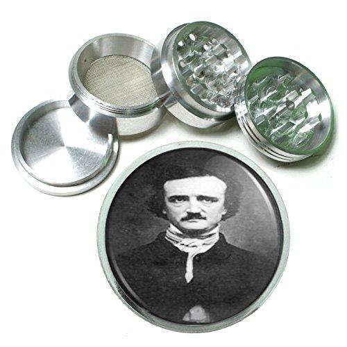 Discover Bargain EDGAR Allan Poe Photograph 4Pc Aluminum Grinder D-509