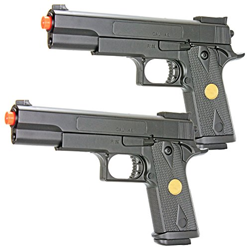 bbtac dual spring p169 spring pistols 260 fps spring airsoft gun (two pack)(Airsoft Gun) (Best Airsoft Guns For Kids)