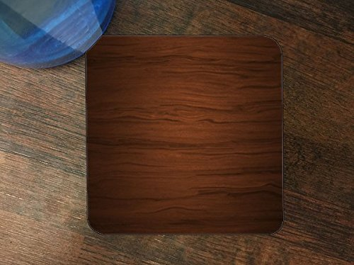 Wood Texture Silicone Drink Beverage Coaster 4 Pack