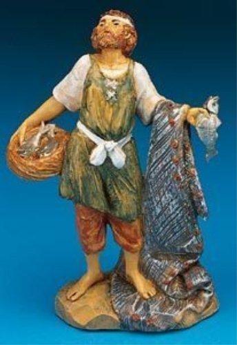 Fontanini Hiram the Fisherman Italian Nativity Villager Figurine