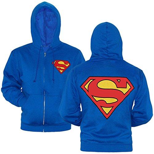Superman Symbol Zip-Up Hoodie-Large]()
