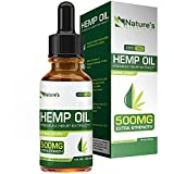 #5: Hemp Oil for Pain Relief 500mg :: Stress Support, Anti Anxiety, Sleep Supplements:: Herbal Drops :: Rich in MCT Fatty Acids :: Natural Anti Inflammatory :: 1 Fl oz. (30 ml)