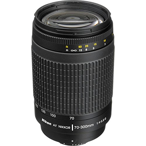 Nikon 70-300 mm f/4-5.6G Zoom Lens with Auto Focus for Nikon DSLR Cameras (Renewed)