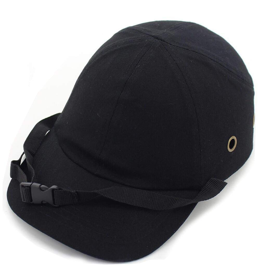 DingSheng - Gorra de seguridad ligera y dura, ajustable, 4 agujeros, 6 agujeros, protecció n para la cabeza, estilo gorra de bé isbol protección para la cabeza estilo gorra de béisbol