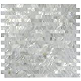 1 Sq Ft White Mother of Pearl Tile Shell Mosaic Tile Kitchen Backsplash Bathroom Wall Tile