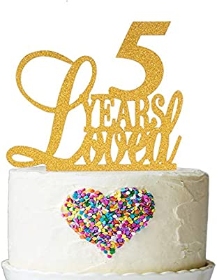 Amazon 5 Years Loved Cake Topper