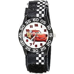 Disney Kids' W002425 Cars Time Teacher Analog Display Analog Quartz Black Watch