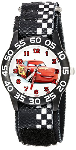 Disney Kids' W002425 Cars Time Teacher Analog Display Analog Quartz Black Watch