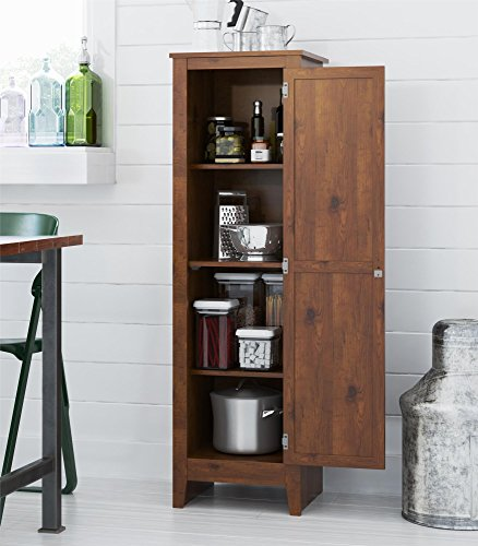 Ameriwood SystemBuild Milford Single Door Storage Pantry Cabinet (old-fashioned Pine)