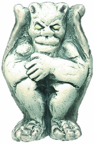 Shipwreck Beads 20 by 28mm Peruvian Hand Crafted Ceramic Gargoyle Beads , Gray, 3 per Pack