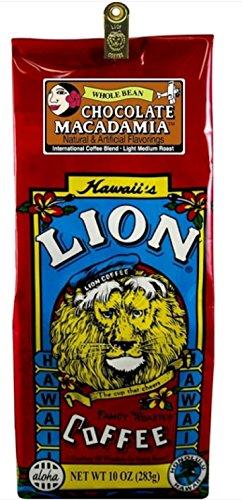 LION Chocolate Macadamia Coffee, Whole Bean, 10 Ounce