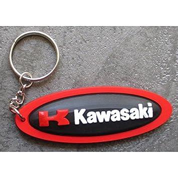 hotrodspirit – Puerta Llave moto Kawasaki Oval negro Torre rojo sprtive