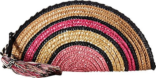 Designer Handbags Accessories - Rebecca Minkoff Women's Straw Taco Clutch, Pink Multi, One Size