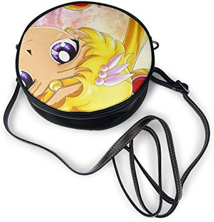 丸型ショルダーバッグ 美少女戦士セーラームーン PUレザー 小さめ 人気 取り外し可能 軽量 可愛い レディース ミニバッグ クロスボディバッグ