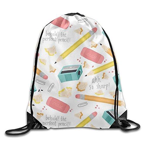 Ping Pong Printed Cute Drawstring Backpack Teen Girl Lightweight Travel Bag Tote Gymnastics by hgdsafiga