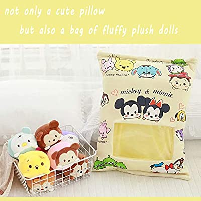 Cute Plush Pillow Throw Pillow Removable Stuffed Animal Toys Creative Gifts for Girls (Yellow): Kitchen & Dining