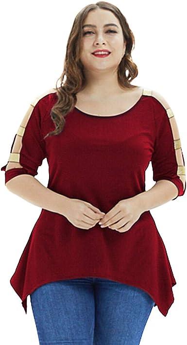 LRWEY Camisetas para Mujer, Moda para Mujer Tallas Grandes ...
