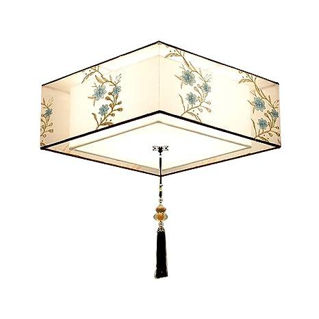 CCSUN E27 Tambor Lámpara techo Lámpara con pantallas de tela ...