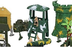 deAO Soldados en Battalla Fuerzas Armadas Unidad de Defensa Militar Figuras de Acci/ón Coleccionable Set M/ás de 100 Piezas en Total