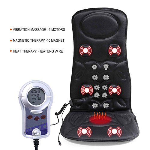 VIKTOR-JURGEN-6-Motor-Vibration-Massage-Seat-Cushion-For-Car-Back-Massager-With-Heat