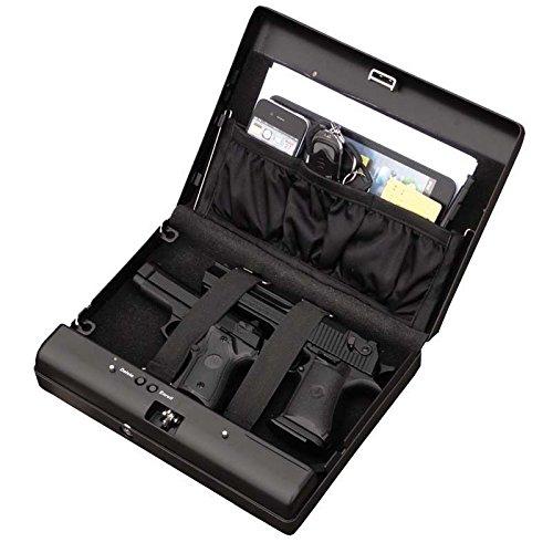 Sourcingbay Fingerprint Pistol Safe Box Gun Vault Jewelry Safe Box Car Home Biometric Keyless
